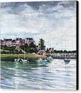 Spinnaker Island Canvas Print by Laura Lee Zanghetti