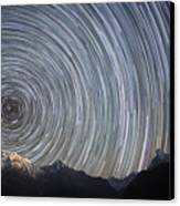 Spinning Stars Above Himalayas Canvas Print by Anton Jankovoy