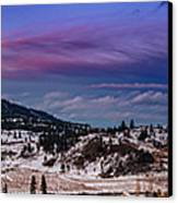 Spion Kop In Winter Canvas Print by Rod Sterling
