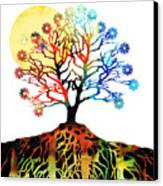 Spiritual Art - Tree Of Life Canvas Print by Sharon Cummings