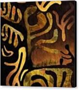Spiritual Drummer Canvas Print by Sarah Loft