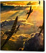 Spitfire Attack Canvas Print by Chris Lord