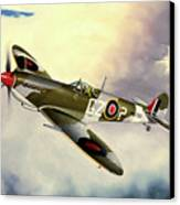 Spitfire Canvas Print by Marc Stewart