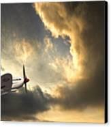 Spitfire Canvas Print by Meirion Matthias