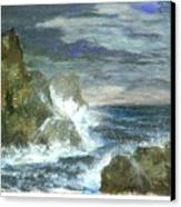 Splashes Of Ocean Waves Canvas Print