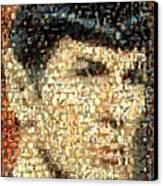 Spock Star Trek Mosaic Canvas Print by Paul Van Scott