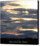 Spokane Sunset - Give God The Glory Canvas Print