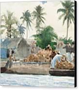Sponge Fisherman In The Bahama Canvas Print