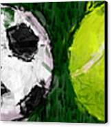 Sports Balls Abstract Canvas Print by David G Paul