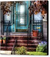 Spring - Door - Apartment Canvas Print by Mike Savad