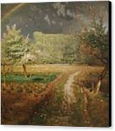 Spring At Barbizon Canvas Print by Jean Francois Millet