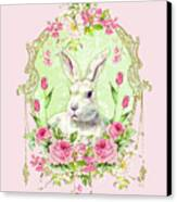 Spring Bunny Canvas Print by Wendy Paula Patterson