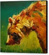 Spring Flower Bear Canvas Print