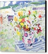 Spring Flowers On The Island Canvas Print