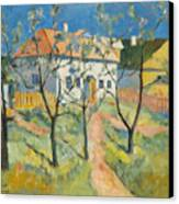 Spring  Garden In Bloom My Reproduction Of Malevichs Work Canvas Print