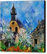 Spring In Foy Notre Dame Dinant Canvas Print