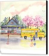 Spring Rain Canvas Print by Melody Allen