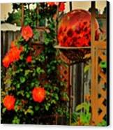 Spring Trellis Canvas Print by Helen Carson