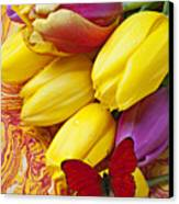 Spring Tulips Canvas Print by Garry Gay