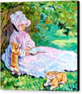 Springtime After Monet Canvas Print by Lyn Cook