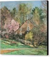 Springtime On Longhill Canvas Print