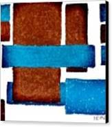 Squares Long And Short Canvas Print