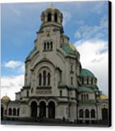 St Alexander Nevski Cathedral In Sofiq Canvas Print