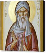 St Anthony The Great Canvas Print by Julia Bridget Hayes