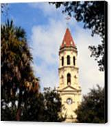 St Augustine Cathedral Canvas Print by Thomas R Fletcher