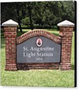St. Augustine Florida Lighthouse Canvas Print
