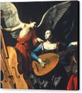 St. Cecilia And The Angel Canvas Print by Granger