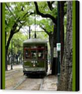 St. Charles Street Car Canvas Print