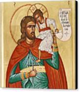 St Christopher Canvas Print by Julia Bridget Hayes