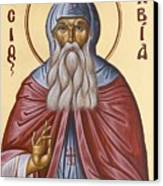 St David Of Evia Canvas Print by Julia Bridget Hayes