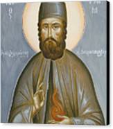 St Efraim Of Nea Makri Canvas Print by Julia Bridget Hayes