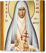St Elizabeth The New Martyr Canvas Print by Julia Bridget Hayes