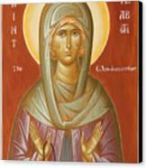 St Elizabeth The Wonderworker Canvas Print by Julia Bridget Hayes