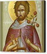 St Euphrosynos The Cook Canvas Print by Julia Bridget Hayes