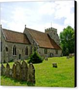 St George's Church At Arreton Canvas Print by Rod Johnson