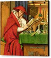 St. Jerome In His Study  Canvas Print by Jan van Eyck
