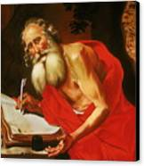St. Jerome In The Wilderness Canvas Print by Rebecca Poole