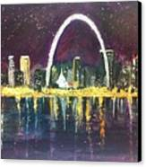 St. Louis Skyline Canvas Print by Made by Marley