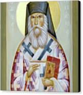 St Nektarios Of Aigina II Canvas Print by Julia Bridget Hayes