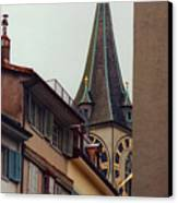 St. Peter Tower Zurich Switzerland Canvas Print by Susanne Van Hulst