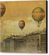 St Petersburg With Air Baloons Canvas Print by Jeff Burgess