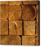 Stack Of Logs Canvas Print by David Chapman