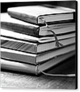 Stack Of Notebooks Canvas Print