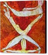Stacked Yogi's Canvas Print