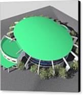 Stadium Model Canvas Print