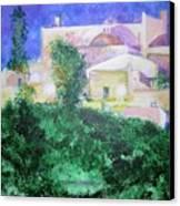 Staeulalia Church - Lit Up At Night Canvas Print